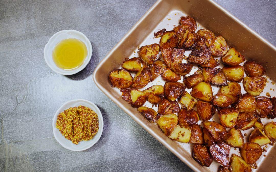 Honey Mustard Crispy Potatoes