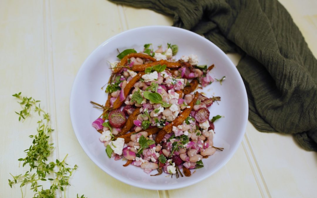 Roasted Root Vegie & Bean Salad