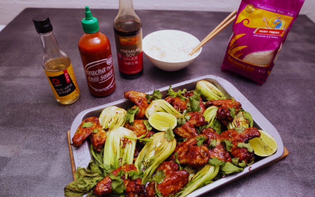 4093 Sticky Lemongrass Chicken Wings Recipe - My Market kitchen