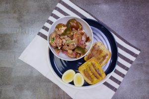 4015 Green Tomato Salad and Anchovy - Header Image Recipe - My Market Kitchen
