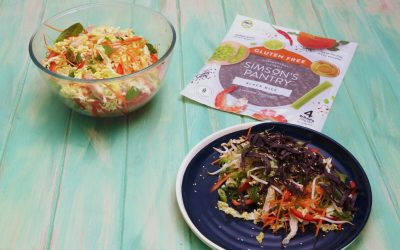 Asian Chicken Slaw with Crispy Noodles