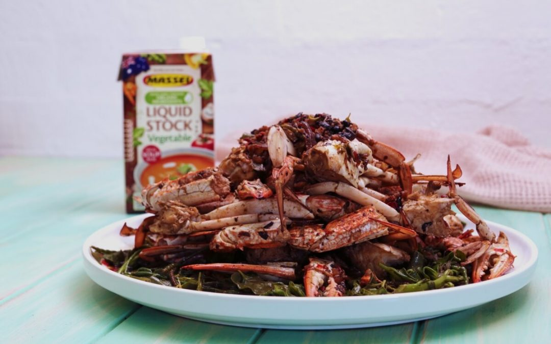 Chinese Style Chilli Crab & Indigenous Greens