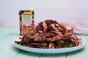 4151 Chinese Crab with Indigenous Greens - Feature Image Recipe - My Market Kitchen