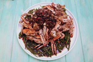 4151 Chinese Crab with Indigenous Greens - Header Image Recipe - My Market Kitchen