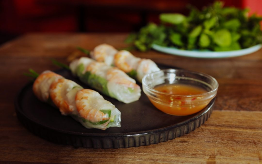 4214 Prawn _ Pork Rice Paper Rolls - Header Image Recipe - My Market Kitchen