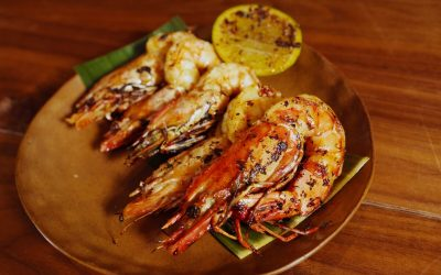 Charred Prawns with Compound Butter