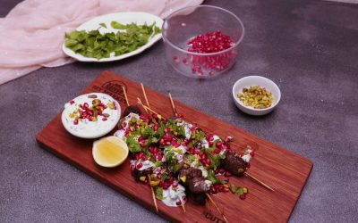 Pomegrante Lamb Skewers