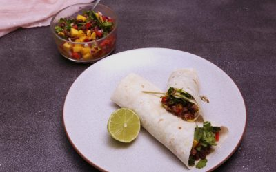 Avocado Mango Turkey Wraps