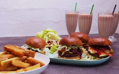Burger, Fries and Shake