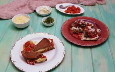 Cheese and Tomato Toastie 3 Ways