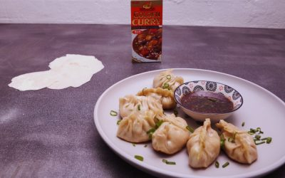Dumpling Skin / Curry Prawn Dumplings