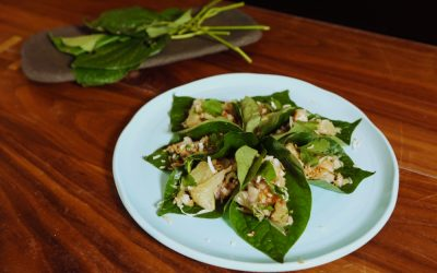 Pomelo and Prawn on Bettel Leaf