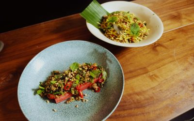 Pork Larb Plated Two Ways