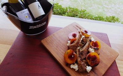 Rosemary Lamb with Grilled Peaches