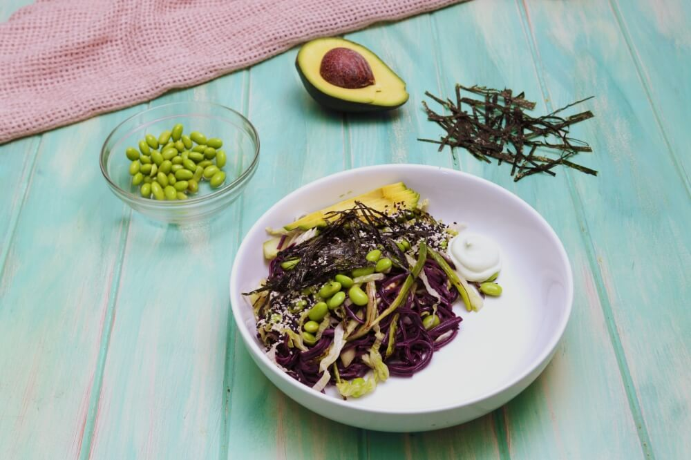 Light and Green Soba Noodle Salad
