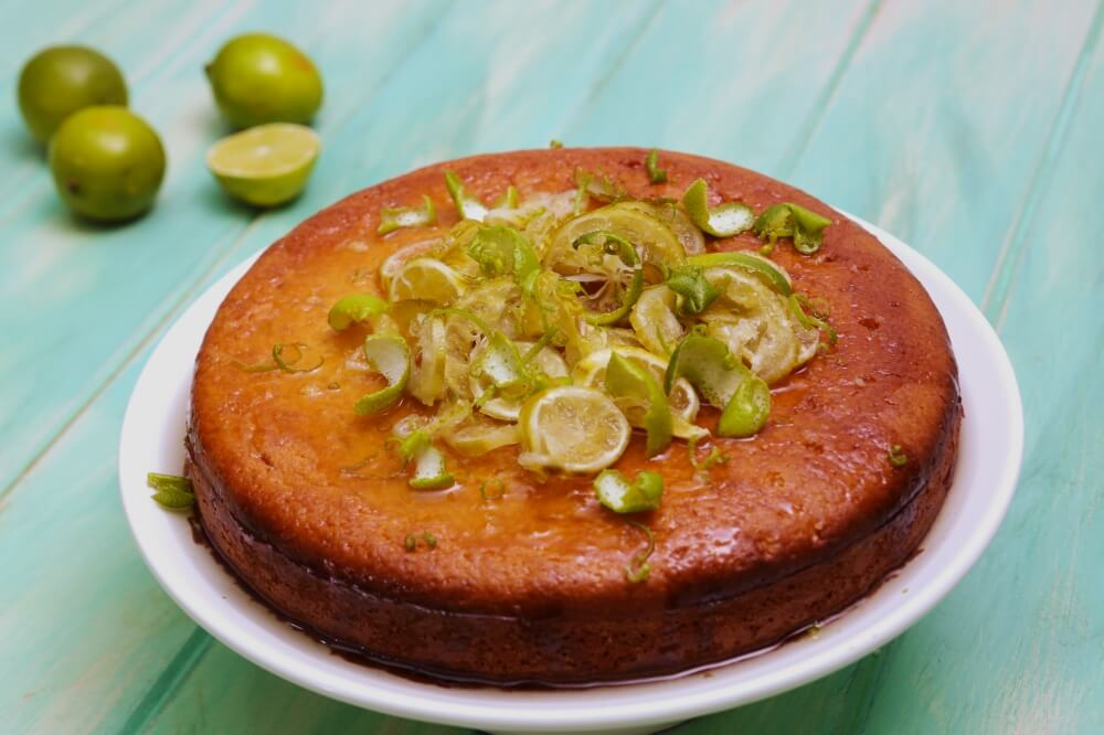 Lime and Yoghurt Syrup Cake