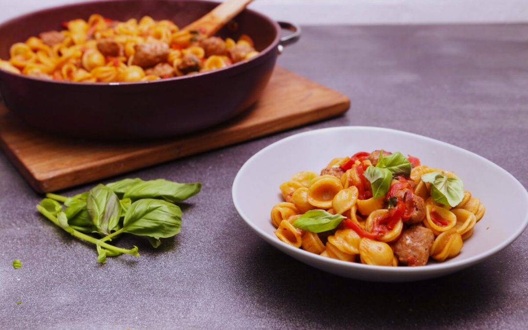 4235 Smokey Chorizo _ Capsicum Pasta - Feature Recipe - My Market Kitchen