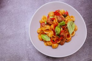 4235 Smokey Chorizo _ Capsicum Pasta - Header Recipe - My Market Kitchen