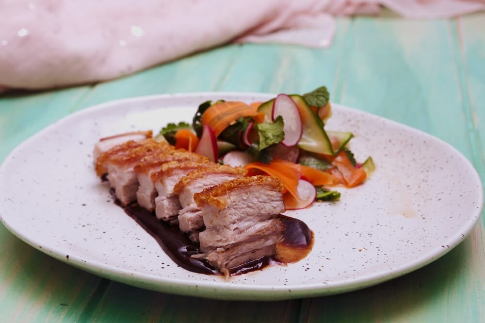 4255 Crispy Pork Belly with Ribbon Salad Recipe - My Market Kitchen