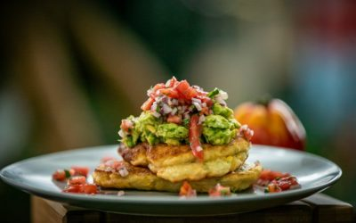 Corn and Coriander Hot Cakes