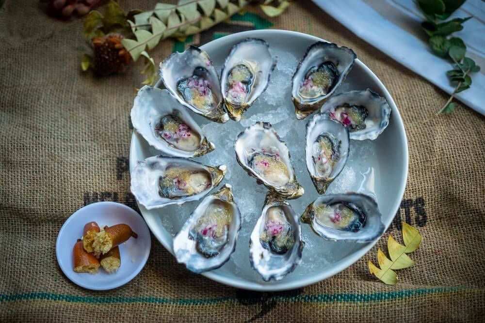 Oysters with Finger Limes 2 - My Market Kitchen