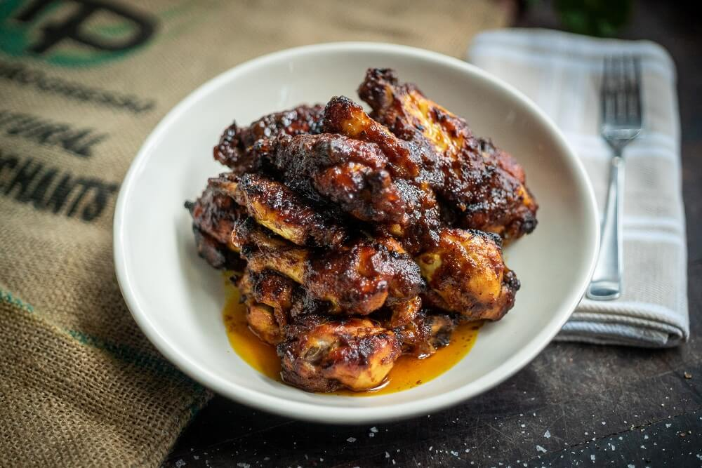 Spicy Honey Baked Chicken Wings