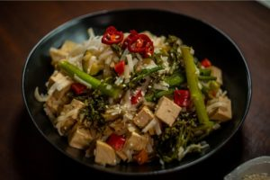 ABB519 Sticky Tofu with Noodles - HEADER