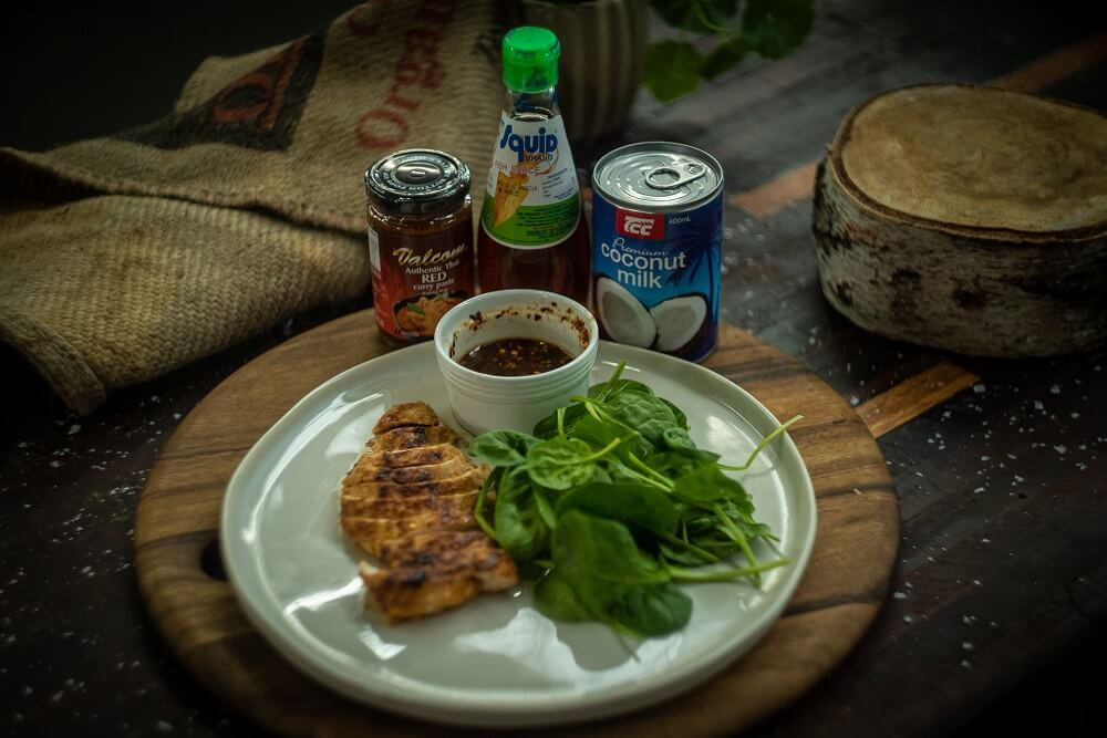 Red Curry Grilled Chicken