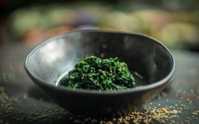 Cold Spinach with Toasted Sesame Seeds