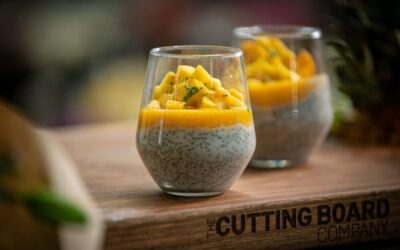 Mango Chia Pudding with Pineapple and Mint