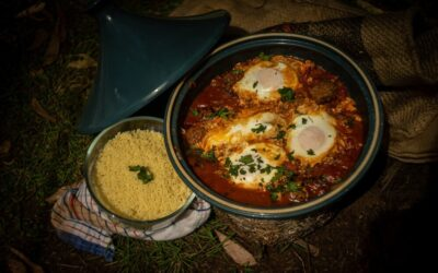 Baked Kofta with Eggs