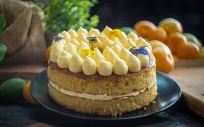 Flourless Orange Cake with Lemon Buttercream