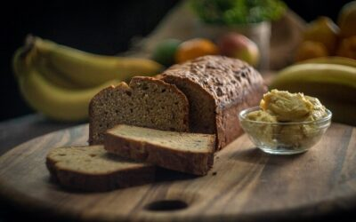Roasted Banana Cake with Maple Butter
