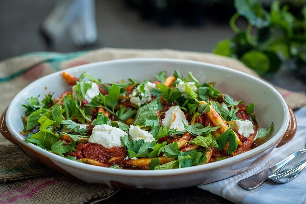 5037 Slow Cooked Yellow Beans with Feta - FEATURE