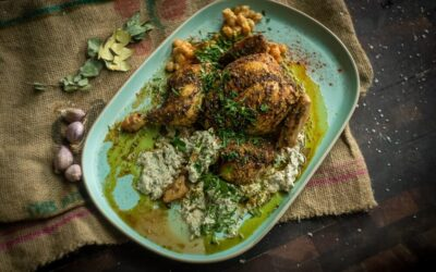 Za'atar Roasted Chicken with Fatteh