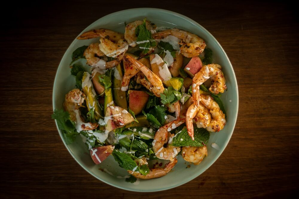 5158 BBQ Prawns with Peach _ Avocado Salad2 - FEATURE