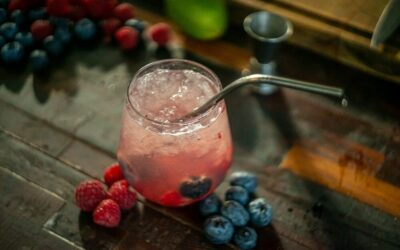 Vodka, Raspberry and Lime Spritzer