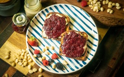 Berry Grape Jam and Macadamia Nut Butter Toast
