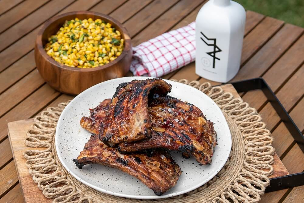 6083 Baby Back Ribs with BBQ Corn Salad 4 - FEATURE