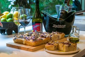 6126 Goats Cheese, Grape and Rosemary Focaccia (Granite Belt) 1 - FEATURE