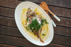 6051 BBQ Baby Snapper with Almond Cream 1 - FEATURE