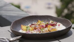 6062 Grilled Stone Fruit, Greek Yoghurt, Honey, Salted Bauple Nuts 01 - FEATURE