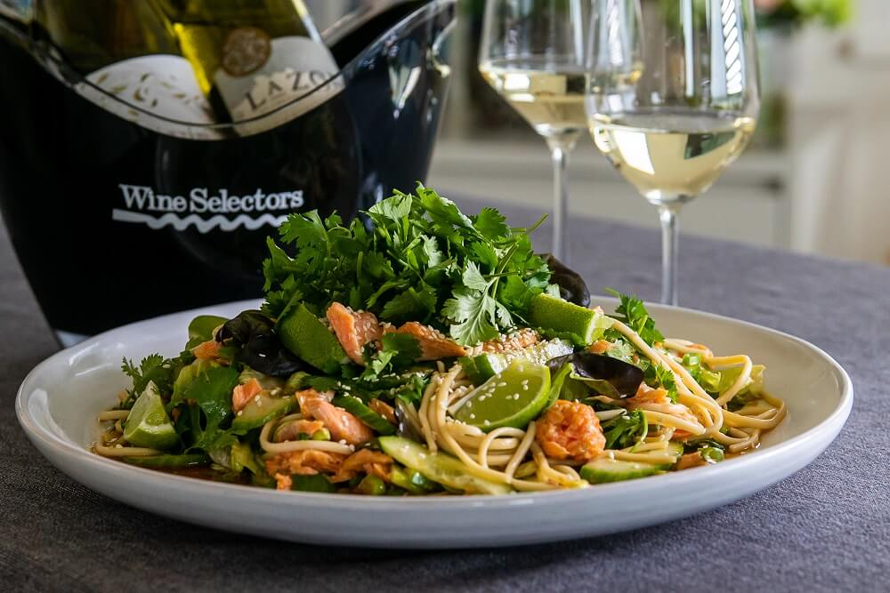 6131 Trout and Udon Noodle Salad (King Valley) 2 - FEATURE