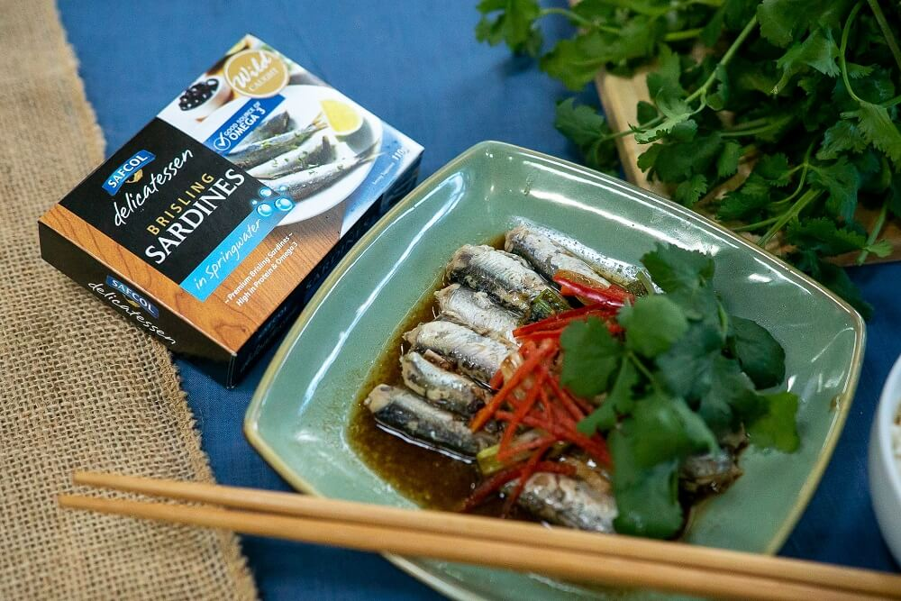 Sardines with Black Bean and Ginger