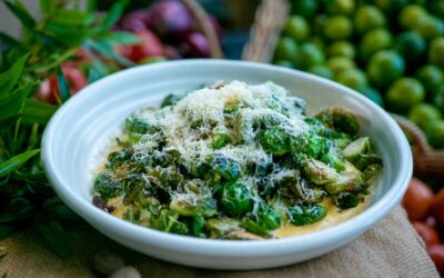 Deep Fried Brussel Sprouts with Parmesan Custard