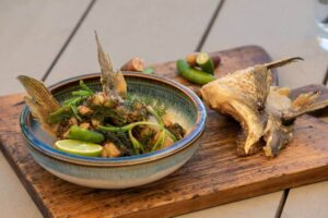 6061 Snapper wings, warrigal greens, native lime 4 - FEATURE