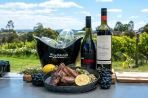 6071 BBQ Lamb Cutlets with a Cannellini Bean, Tarragon and Pea Cress Salad (Coonawarra) 1 - FEATURE