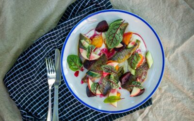 Tommy Roughs with Apple Beetroot and Cucumber