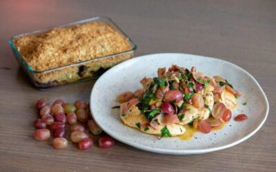 Grape and Chicken Saltimbocca and Grape Crumble