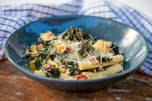 6150 Green garganelli with braised greens 2 - FEATURE